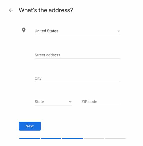 Input Your Business Address in Google My Business