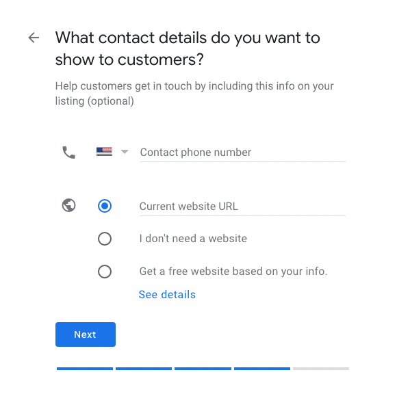 Add Your Phone and Website to Google My Business