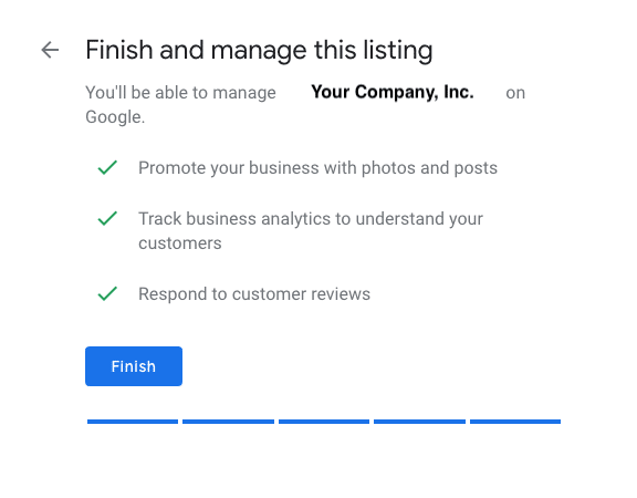 Finish Setting Up Your Google My Business Listing